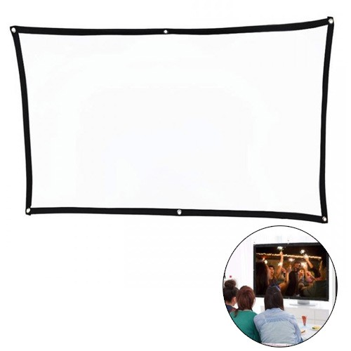 Rockware 72inch Portable Foldable Soft Fabric Projection Screen