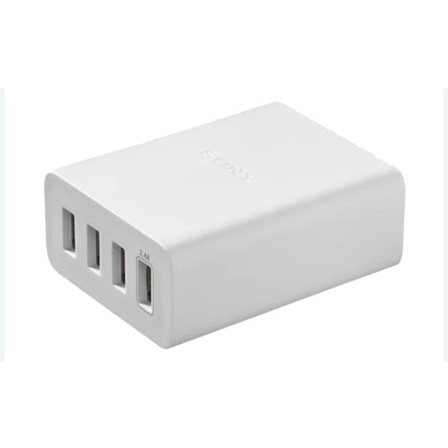 Sony USB AC Adaptor with 4 Ports CP-AD2M4 - White