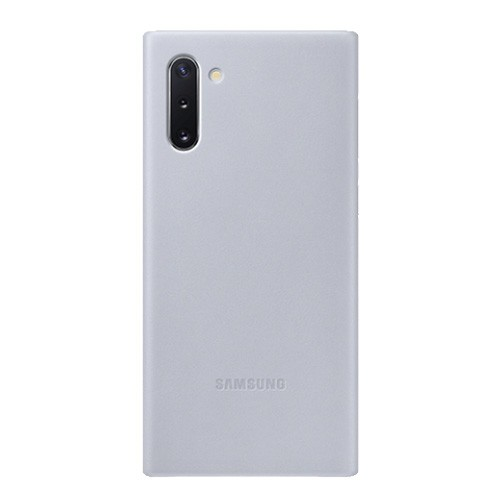 Samsung Leather Cover Case for Galaxy Note10 - Gray