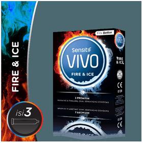 Sensitif Kondom Vivo Fire &