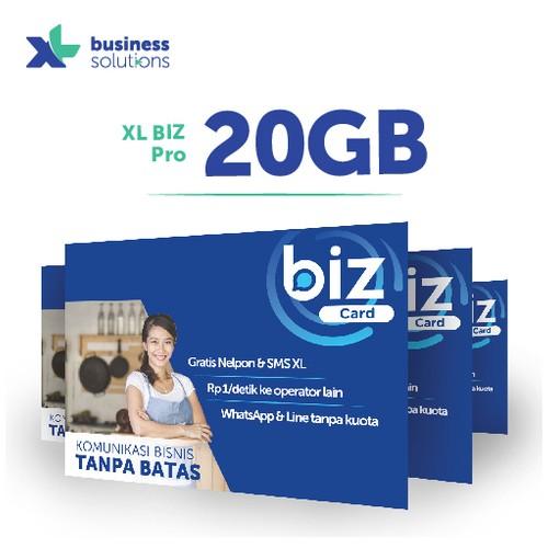 Kartu perdana XL BIZ Pro 20GB