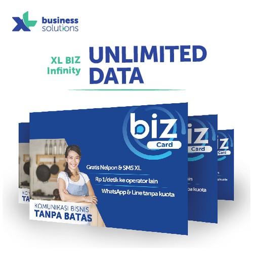 Kartu perdana XL BIZ Infinity Unlimited Data
