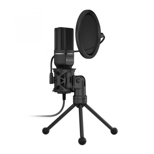 Yanmai Condenser Microphone with Pop Filter and Tripod Stand SF-777 - Black
