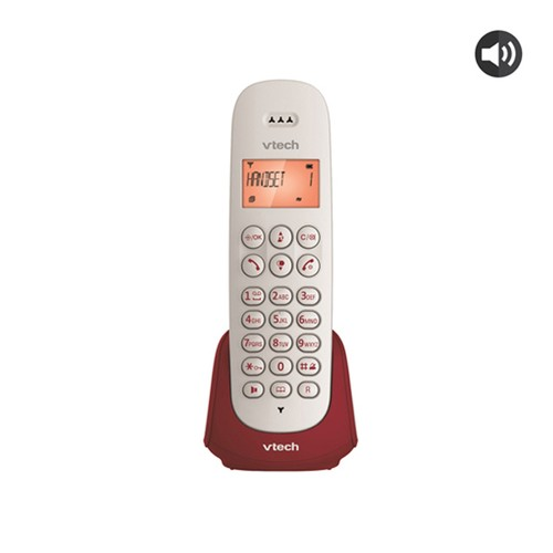 VTECH Telepon Wireless/Cordless Phone ES2510A - Maroon/Raspberry