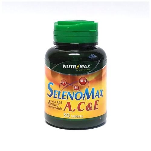 Nutrimax - SELENOMAX A, C & E WITH ALA & MIXED CAROTENOIDS (30 Tablet)