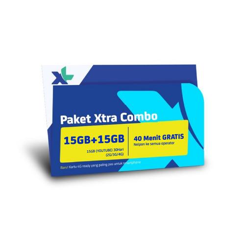 Kartu Perdana & Paket XL Xtra Combo 15GB + 15GB