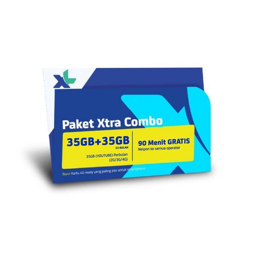 Kartu Perdana & Paket Xl Xtra Combo 35GB + 35GB 12 Bulan