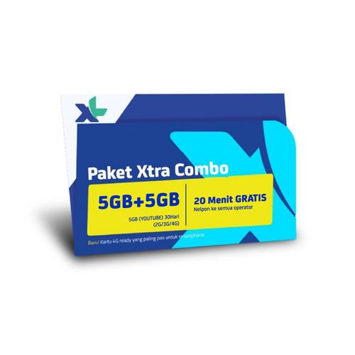 Kartu Perdana & Paket XL Xtra Combo 5GB + 5GB