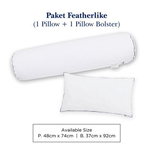 Bulu Angsa Featherlike Paket 1 Bantal 1 Guling