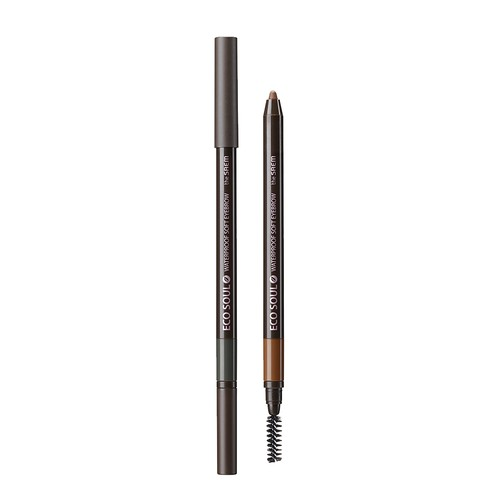 The Saem - Eco Soul Waterproof Soft Eyebrow 01 Natural Black
