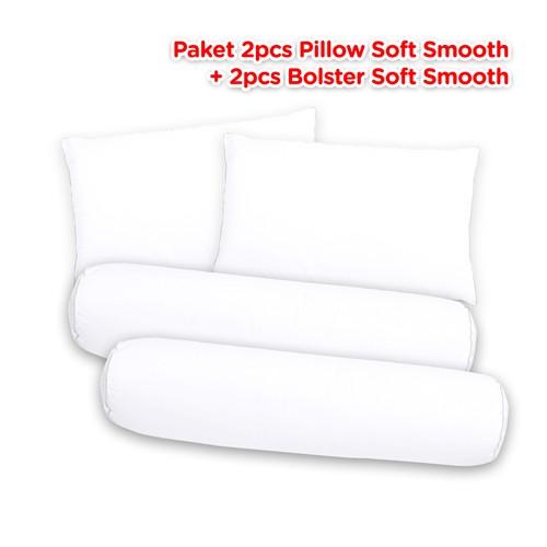 Paket 2 Bantal 2 Guling Bulu Angsa 100% Down (Soft Smooth)