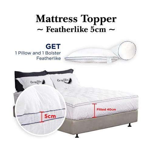 Paket Mattress Topper Bulu Angsa Featherlike 5cm 120x200