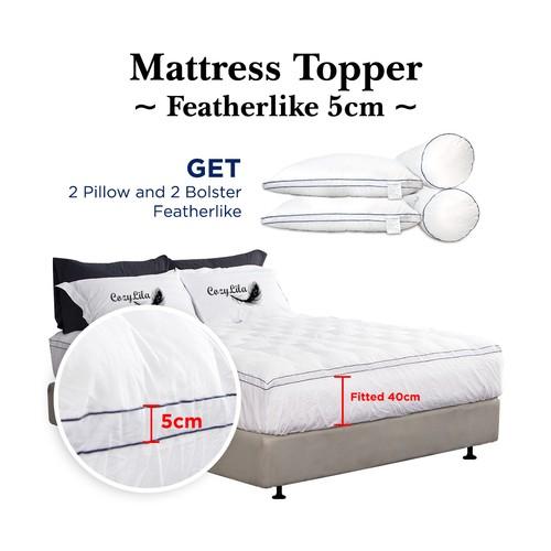 Paket Mattress Topper Bulu Angsa Featherlike 5cm 200x200