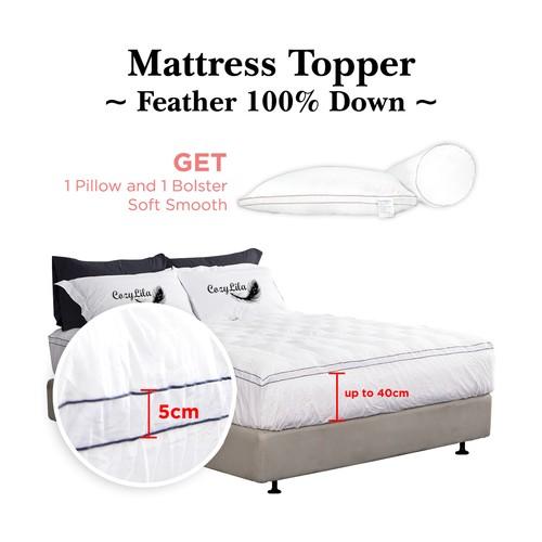 Paket Mattress Topper Bulu Angsa 100% Down 120x200