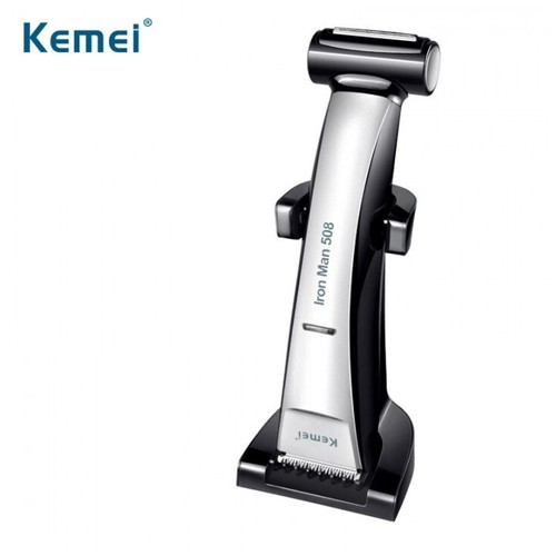 KEMEI Iron Man KM-508 2 in 1 Hair Clipper Waterproof Men Cordless Rechargeable Electric Hair Trimmer [TKU]