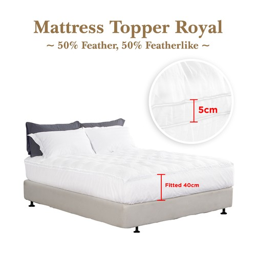Mattress Topper Bulu Angsa 50% Feather (Royal) 120x200