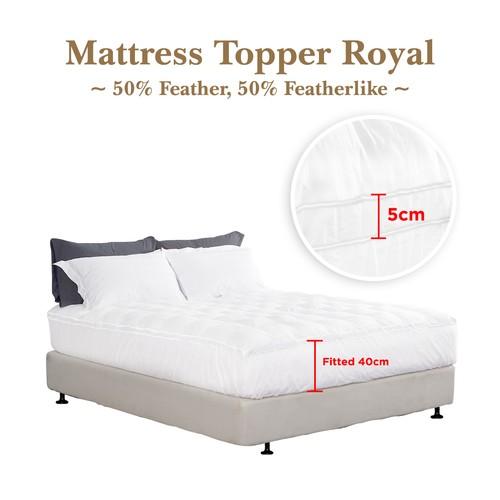 Mattress Topper Bulu Angsa 50% Feather (Royal) 180x200