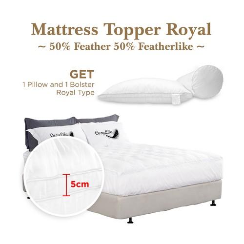 Paket Mattress Topper Bulu Angsa 50% (Royal) 120x200
