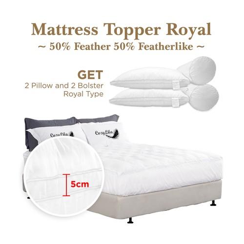 Paket Mattress Topper Bulu Angsa 50% (Royal) 160x200