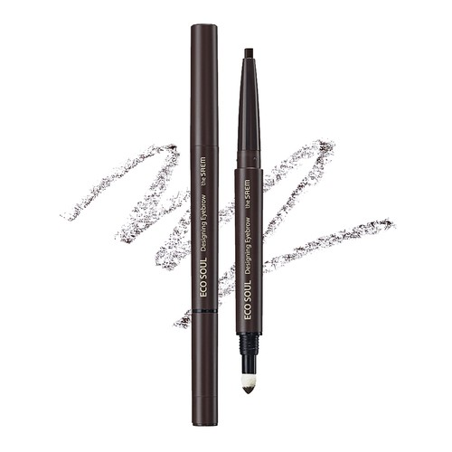 The Saem - Eco Soul Designing Eyebrow 03 Grey Brown