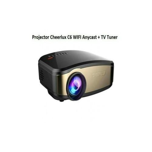 Mini Portable Projector Cheerlux C6 WiFi Edition - Anycast - TV Tuner - 1200 Lumens [TKU]