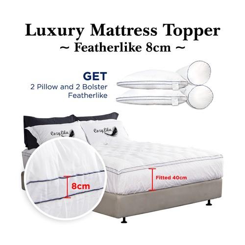 Mattress Topper Bulu Angsa FeatherlikeDouble List 8cm 180x200