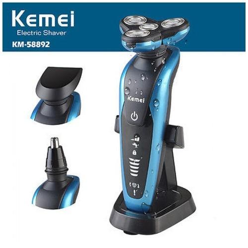 KEMEI KM-58892 3D IPX7 Rechargable Washable Men Cordless Electric Shaver Razor [TKU]