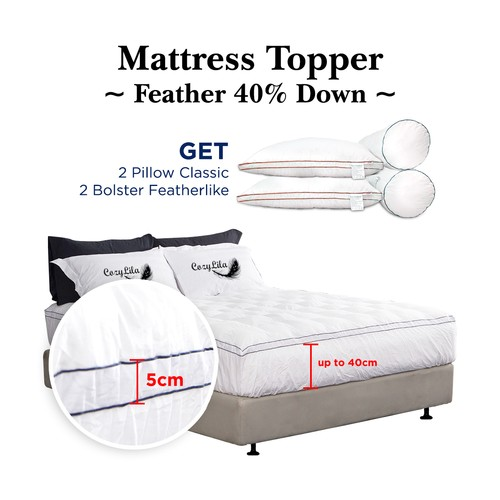 Paket Mattress Topper Bulu Angsa 40% Down 200x200