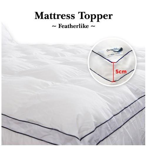 Mattress Topper Bulu Angsa Featherlike 5cm 180x200
