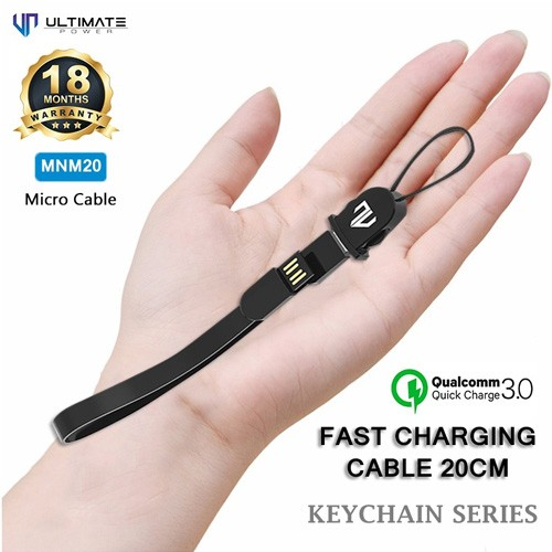 Ultimate Data Cable Keychain Micro USB 20cm MNM20