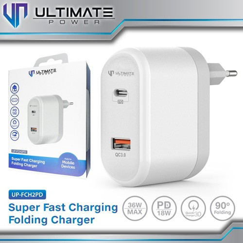 Ultimate Folding Charger with Quick Charge 3.0 & Power Delivery UP-FCH2PD