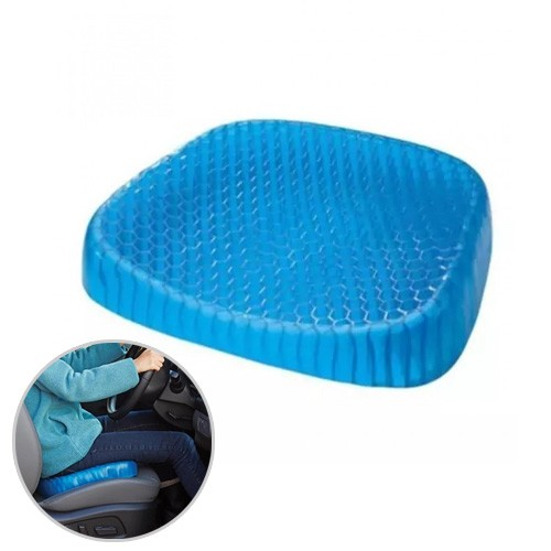Egg Sitter Gel Flex Honeycomb Support Seat Cushion with Washable Cover