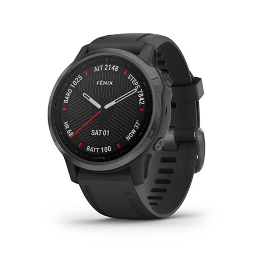 Garmin Fenix 6S 42mm - Carbon Gray DLC with Black Band