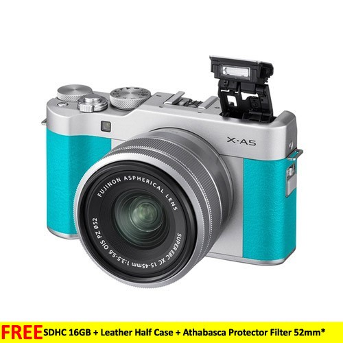 Fujifilm Mirrorless Camera X-A5 kit 15-45mm - Mint Green