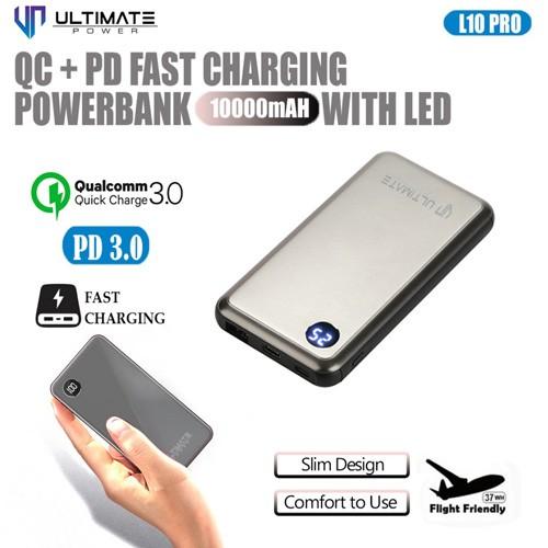 Ultimate QC+PD Fast Charging Power Bank 10000mAh with LED Digital L10 PRO-G - Gun