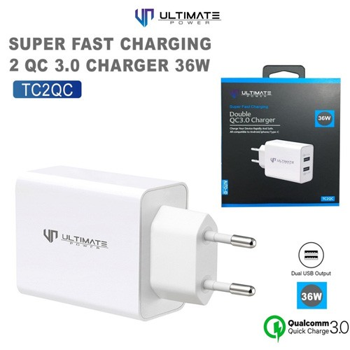 Ultimate Super Fast Charging Double QC 3.0 Charger 36W TC2QC