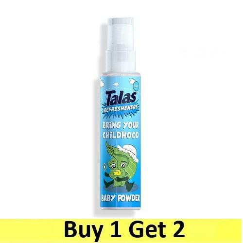 Talas Refresheners Pump Sprayer 50ml - Baby Powder (Buy 1 Get 2)