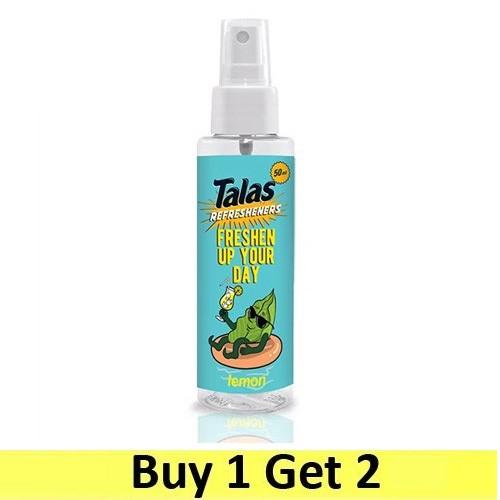 Talas Refresheners Pump Sprayer 50ml - Lemon (Buy 1 Get 2)