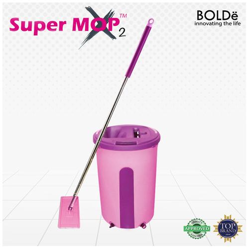 BOLDe Supermop X2 ( Alat Pel Lantai ) - Fuchisia