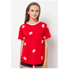 Boontie Lips Tshirt Red