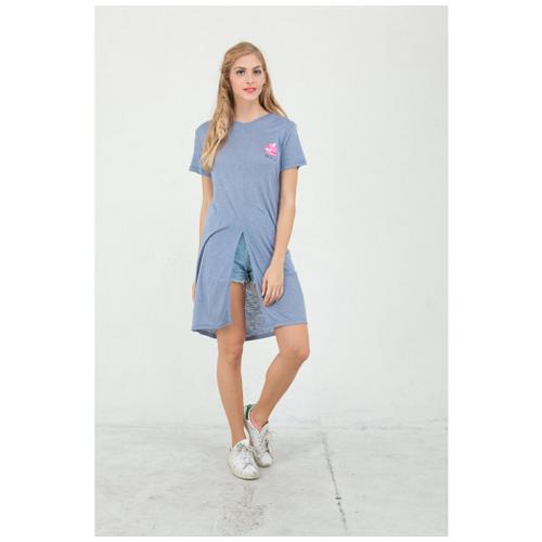 Boontie Split Milky Dress Blue