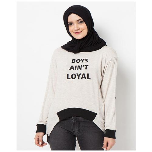 Boontie Boys Aint Loyal Blouse Cream