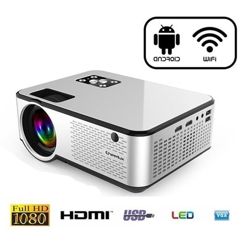 Cheerlux C9 Mini Android WiFi LED 720P Projector 2800 Lumens Analog TV