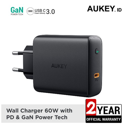 Aukey Charger 60W PD with GaN Power Tech - 500395