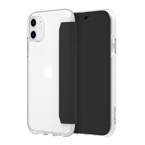 Griffin Survivor Clear Wallet For iPhone 11 GIP-038-CLB - Black