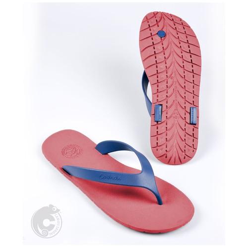 Camou Sandal Jepit Flipflop Pria Art WR - Merah Biru 44