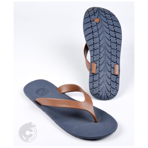 Camou Sandal Jepit Flipflop Pria Art WR - Biru Karamel 40