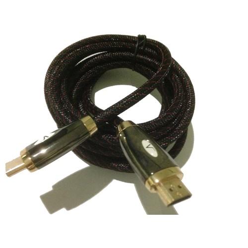 VERNON HDMI Kabel Premium dengan Nylon Brading  high speed 3D panjang 3 meter