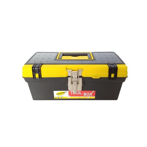 Powerplus Toolbox Besar / Kotak Perkakas Plastik Besi Kuning