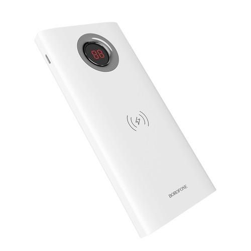 BOROFONE BT16 Power Bank AirPower Wireless Charging 10000mAh - White